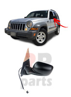 FOR JEEP CHEROKEE LIBERTY 2001 - 2008 NEW WING MIRROR BLACK 3 PIN LEFT N/S LHD