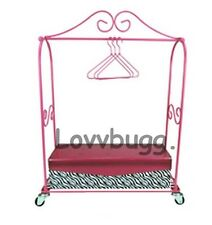 "Mini Dress Rack w Box Hangers for 18"" American Girl Doll Clothes Lovvbugg Has IT"