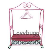 "Mini Dress Rack w Box Hangers for 18"" American Girl Doll Clothes Lovvbugg Has IT"