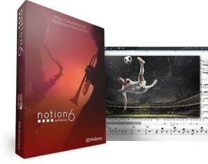 PresonusNotion 6 Music Notation Software for Mac PC Mobile Boxed  NEW