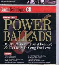 POWER BALLADS / JULIAN LAGE CD GUITAR TECHNIQUES 170 2009