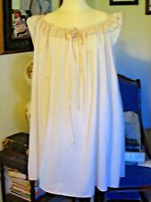 Civil War Dress Victorian Underpinnings Lady'S Ivory 100% Cotton Chemise~1 Size
