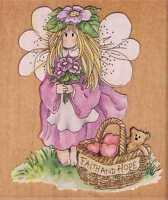 Motivstempel Stamps Happen Elfe Fairy  lila Hoffnung  Blumenkind