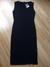 BNWT TopShop Petite Black Jersey Midi Dress Size 8