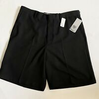 Walter Hagen Mens Golf Shorts New Performance Flat Front Black NWT Size 36