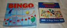 Lot of 2 BINGO Games*Easy Sight Words*Colors and Shapes