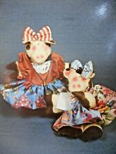 🐄 Country Primitive Folk Art Cow Stuffed Cloth Rag Doll Toy Sewing Pattern