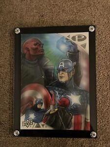 2019 Marvel Premier 5x7 Sketch Captain America Red Skull Mohammad Jilani WOW!
