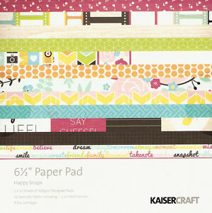 Kaisercraft Happy Snaps 6.5x6.5 paper pad 40 sheets includes 4 die cut pages