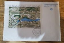Olympic First Day Cover stamps - Germany 1972