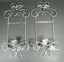 Pair of Metal Grape Vine Plate / Photo Rack Hangers Wall Decor