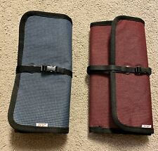 Set of 2 Travel USB Cable Organizer Electronics Accessories Storage Bags