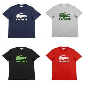 NEW Lacoste Printed Logo Cotton Men's Short Sleeve T-Shirt