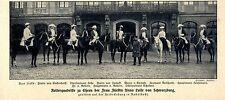 Reiterquadrille zu Ehren der Fürstin Anna Luise v.Schwarzburg 1911