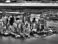 CULTURAL LANDSCAPE MANHATTAN NEW YORK BLACK WHITE POSTER ART PRINT BB800A