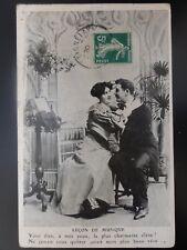 French Romance: LECON DE MUSIQUE No.5 Violin & Mandoline THE MUSIC LESSON c1909