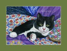 Cat and Fabrics ACEO Print Flowery Patterns by I Garmashova