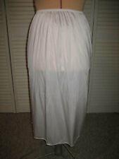 BALI White Nylon Half Slip, No Lace, Side Slit - Style 7030 - Size M - USA