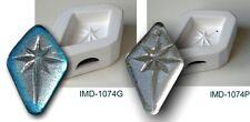 IMD-1074P BETHLEHEM STAR - PREDRILLED JEWELRY pendant GLASS FUSING pod mold