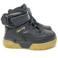 Patrick Ewing Hi Top Sneakers Shoes Toddler Size 7 Black Gold 7EW90124-046