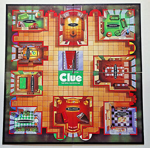 replacement parts Clue Board Game Parker Bros tri fold board 4 section