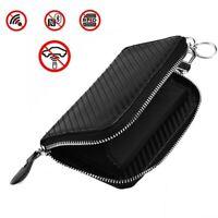 1 X Car Key RFID Signal Blocker Case Faraday Cage Fob Pouch Keyless Blocking Bag