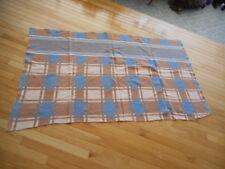 Small Vintage Western Camp Blanket Geometric Blue & Tan  W/wear (AHi