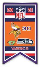 2021 Semaine 3 Bannière Broche Minnesota Vikings NFL Vs.Seattle Seahawks Super