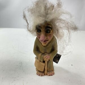 NyForm Troll Made in Norway Old Lady with Bag & Cane NEW WITH TAGS
