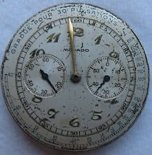 Movado Chronograph mens wristwatch movement & dial balance Ok. to restore