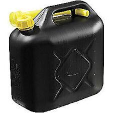 Jerry Can 10L 670g Black Plastic Filler Hose Unleaded Fuel - Carpoint EX01115