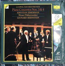 Beethoven's Piano Concertos Nos. 3&4 Laser Disc. Leonard Bernstein, New, Sealed