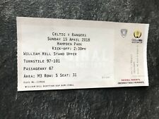 Rangers v Celtic 15th April 2018 Scottish Cup Semi Used Ticket Good Condition