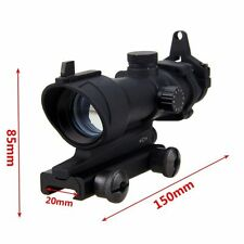 32mm Green Dot Optical 4x Rifle Laser Scope Real Fiber Optic For 20mm Rifle Rail