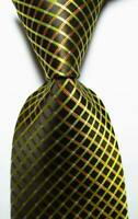 NEW BLACK GOLD STRIPES CLASSIC MEN'S CHINA SILK WEDDING TIE UK SELLER GIFT
