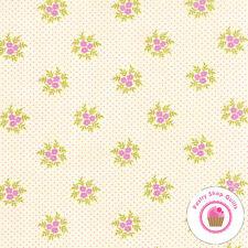 Moda ALOHA GIRL 20246 20 Cream PURPLE FLORAL Fig Tree QUILT FABRIC