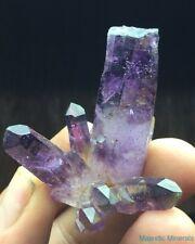 7-3-7-3-7-3 DOW POINT___LARGE Brandberg Amethyst Quartz Crystal CLUSTER