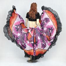 Belly Dance Costume Flamenco Gypsy Bohemia 720 Degree Circle Open Skirt 23meter