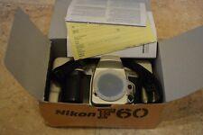 Nikon F60 35mm Camera Body Boxed Appears Unused.