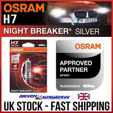1x OSRAM H7 Night Breaker Silver Cornering Bulb For VW GOLF VII 2.0 TDI 11.12-