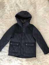 Zara Kids Boy Navy Blue Quilted Hooded Jacket Size 6
