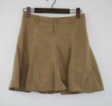 Athleta Whatever Pleated Skort in Taupe 683764 Skirt Pants Womens Sz 4P *FLAWS*