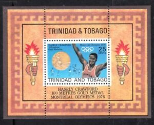 TRINIDAD & TOBAGO #267a MNH HASELY CRAWFORD 100m GOLD MEDAL WINNER MONTREAL