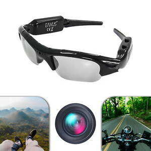 EAXUS® Action Videobrille Spionage Cam Sonnenbrille Kamerabrille Foto Video Ton