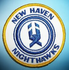 New Haven Nighthawks Ice Hockey Team Patch Patches Vintage New AHL Minor league