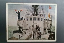 WWI German Cigarette Cards Der Weltkrieg Kurmark Saba #246 Baltic Ship 1917!