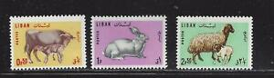 LEBANON  - 440 - 442 - MH - 1965 - DOMESTIC ANIMALS