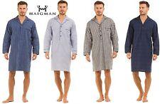 Mens Haigman Lightweight 100 Pure Cotton Nightshirt Nightgown Size M L XL XXL Blue Check 2xl