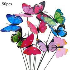 50X Artificial Fake Butterflies Craft Colorful Wedding Party Floral Garden Decor