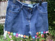 SIZE 18 CUT OFF JEANS SHORTS DAISY TRIM ~ GEORGE